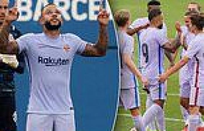 sport news Memphis Depay scores debut goal for Barcelona from the penalty spot after ...