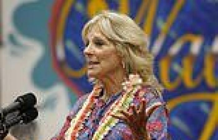 Jill Biden promotes COVID vaccines and attracts group of anti-vax Trump ...