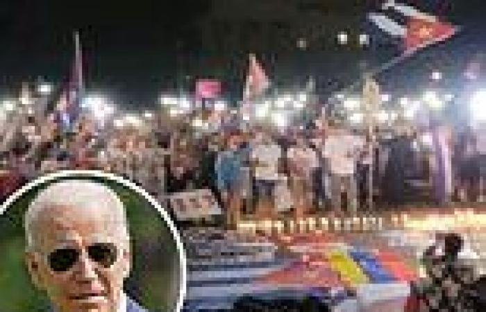 Cuban-Americans protest at WH through the night demanding Biden do more to end ...
