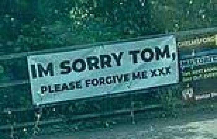 'I'm sorry Tom, please forgive me': Mysterious sign appears over A127