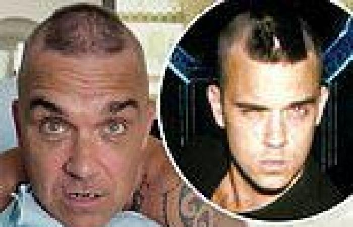 'I'm thinning': Robbie Williams goes for a mohican again - 23 years after he ...