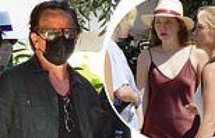 U2's Bono heads to lunch with daughter Eve Hewson and family in sunny France