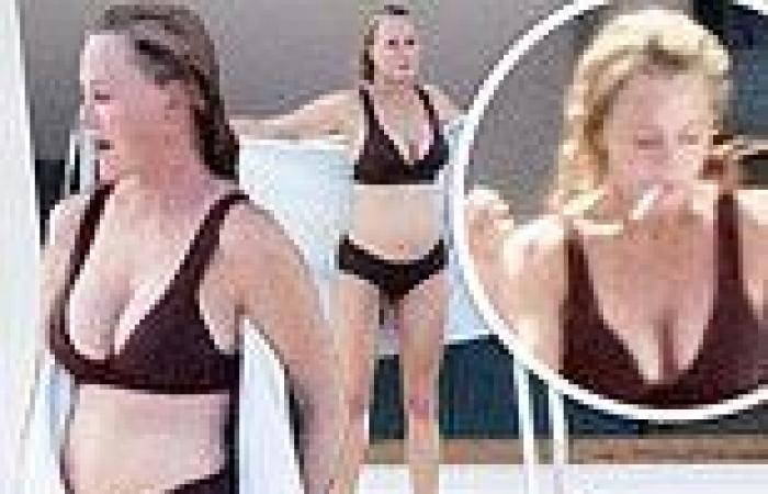Melanie Griffith, 63, looks smoking hot in a bikini in Nerano, Italy
