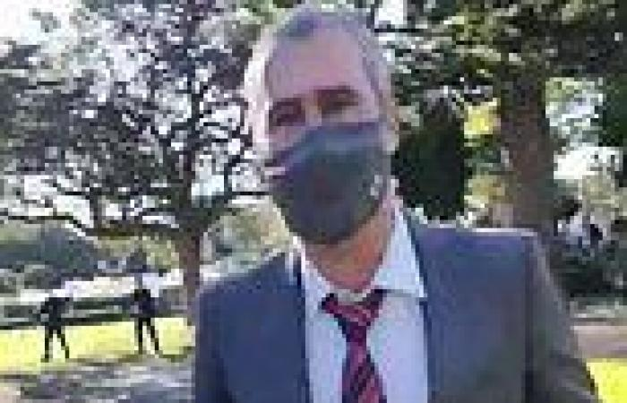 Anti-lockdown protester who 'mobbed a veteran journalist during violent rally' ...