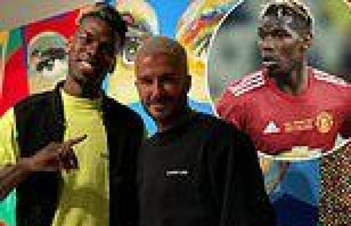 sport news Paul Pogba poses with Manchester United legend David Beckham amid links of a ...