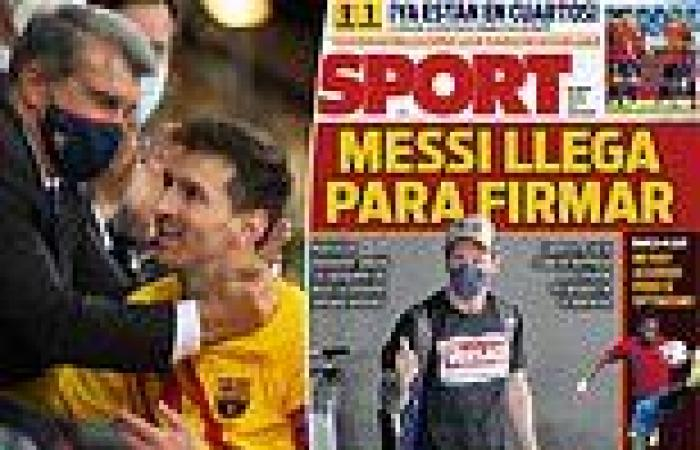 sport news Lionel Messi 'returns to Barcelona to agree £250,000-a-week five-year deal'