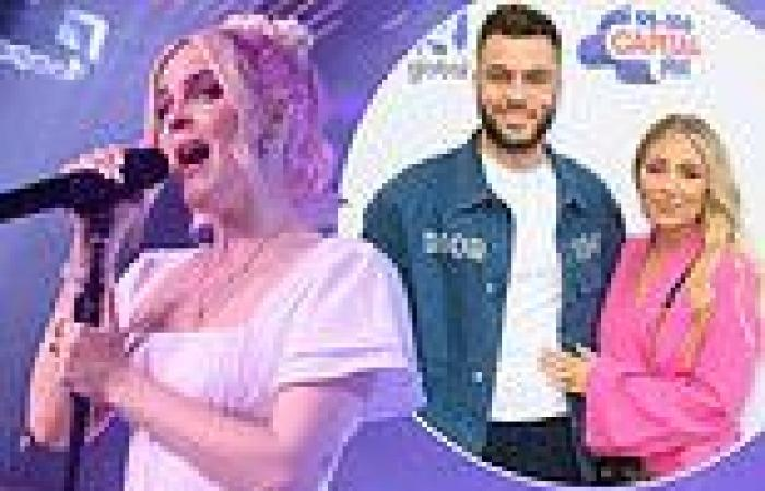 Anne-Marie looks typically stylish in white mini dress belting out her hits at ...