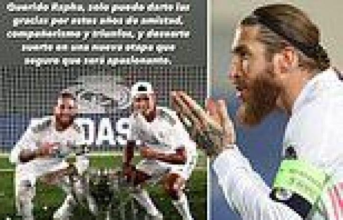 sport news Sergio Ramos sends message to former Real Madrid team-mate Raphael Varane ahead ...