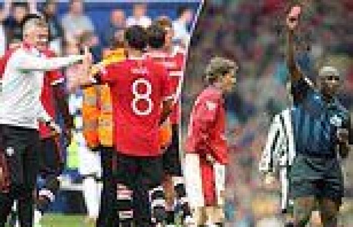 sport news Ole Gunnar Solskjaer admits no regrets over infamous Manchester United red card ...