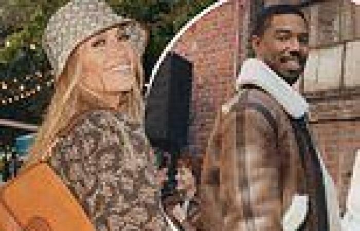 Jennifer Lopez and Michael B. Jordan model at NYC block parties for Coach's ...