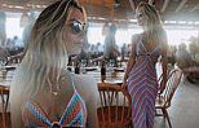 Tiffany Watson wows in crochet dress in Mykonos
