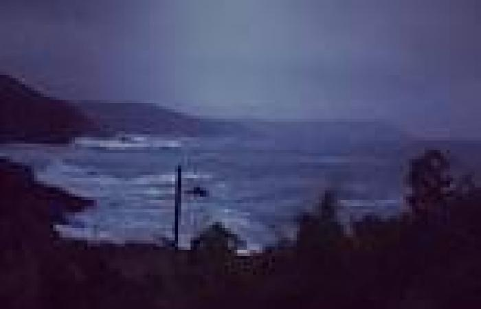 Storm Evert is here! Waves lash the shore and campers suffer under torrential ...