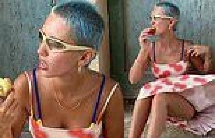 Iris Law shows off her blue buzzcut in sizzling snaps from Greece holiday