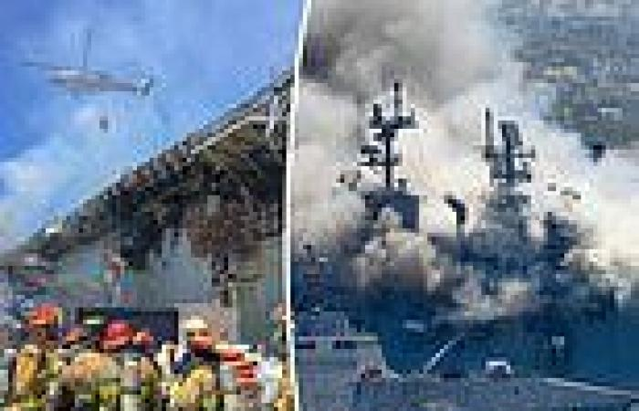 US Navy charges sailor for fire that destroyed the $750 million USS Bonhomme ...