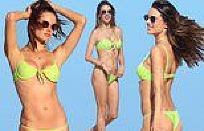 Alessandra Ambrosio is sublime in a string bikini as she poses for boyfriend ...