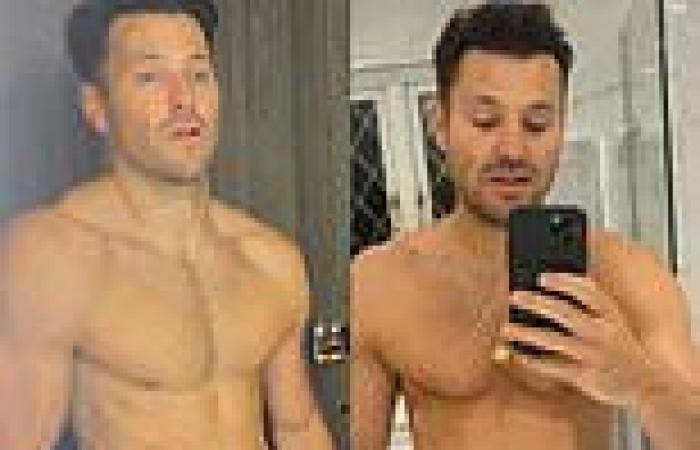 Mark Wright shows off his bloated stomach in reverse body transformation after ...