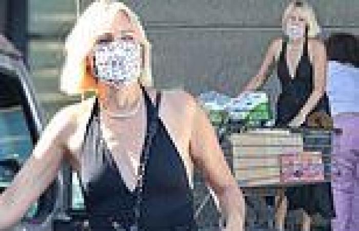 Malin Akerman steps out for a spot of grocery shopping in Los Feliz
