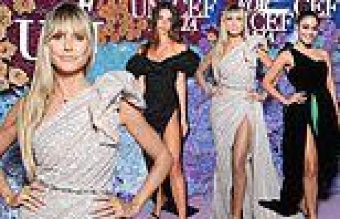Heidi Klum leads the stars at a glamorous Unicef fundraiser in Capri