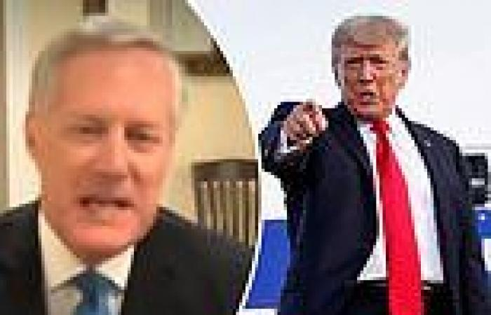 Mark Meadows says Trump is meeting with 'Cabinet Members' in NJ to discuss a ...