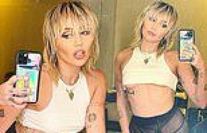 Miley Cyrus flashes under-boob in latest slew of VERY racy photos