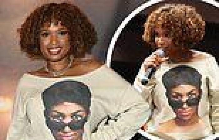 Jennifer Hudson tributes Aretha Franklin with T-Shirt atscreening of biopic ...