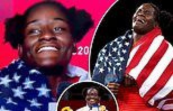 sport news US wrestler, Tamyra Mensah-Stock puts national pride on full display after ...