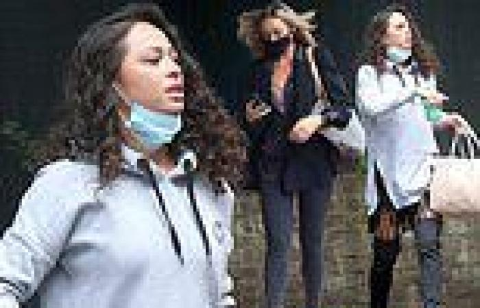 Strictly pros Katya Jones and Luba Mushtuk look glamorous en-route to first ...