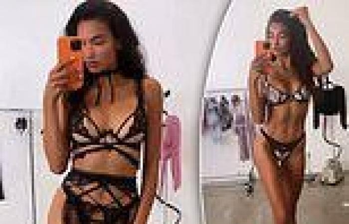 Victoria's Secret model Kelly Gale shows off her phenomenal figure in racy lace ...