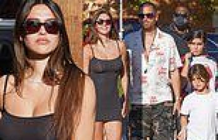Amelia Hamlin, 20, enjoys lunch outing with beau Scott Disick, 38, and his kids ...