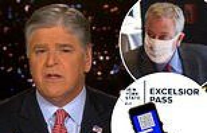 Hannity slams NYC vaccine passport, says it will disproportionately hurt black ...