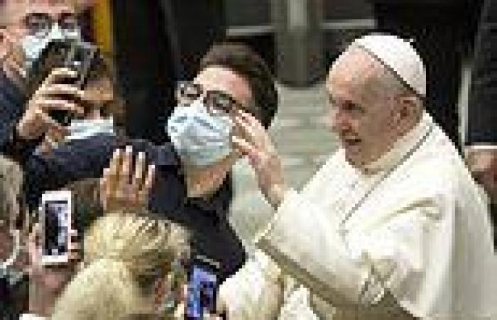 Pope Francis holds first audience since undergoing bowel surgery