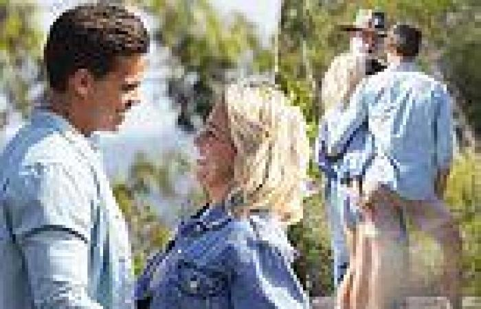 The Bachelor's Holly Kingston gets handsy with Jimmy Nicholson when the cameras ...