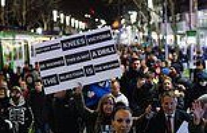 Victoria records six Covid cases as Melbourne protesters hurl BOTTLES at cops ...