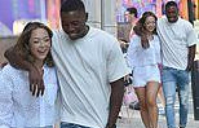 Love Island's Aaron Francis and Sharon Gaffka put on a very cosy display as ...