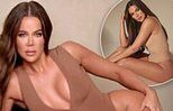 Khloe Kardashian poses in nude bodysuit as she posts message about being 'good ...