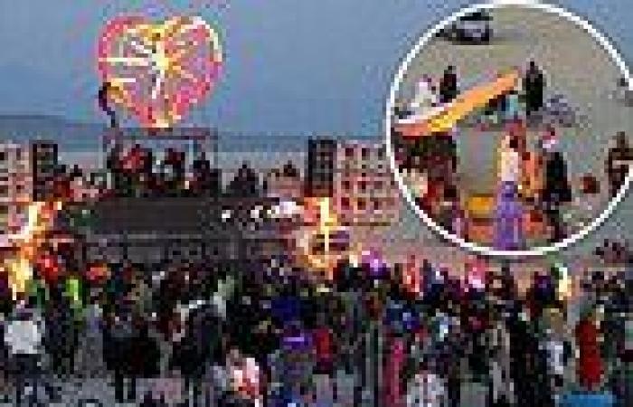 20,000 gather in Nevada desert create their own unofficial Burning Man