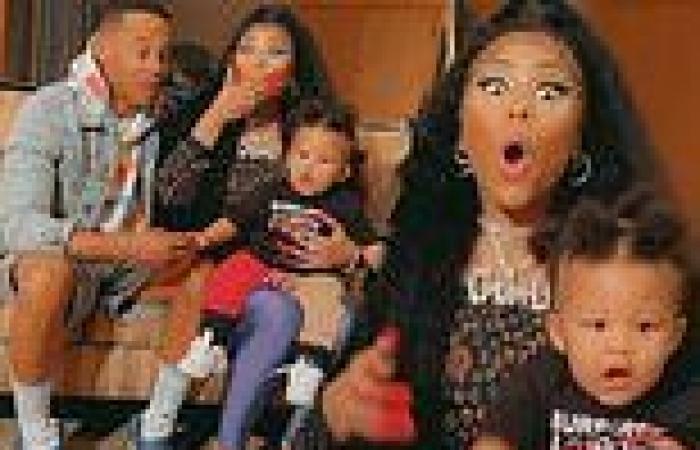 Nicki Minaj gasps after hearing her 11-month-old son 'Papa Bear' speak for the ...