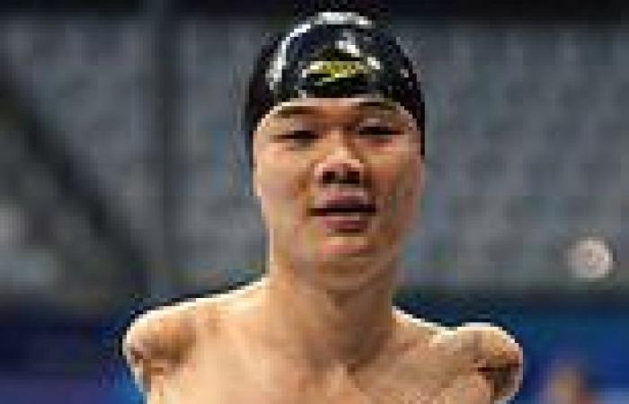 sport news Chinese para-swimmer Zheng Tao - who has no arms - picks up FOURTH gold medal ...