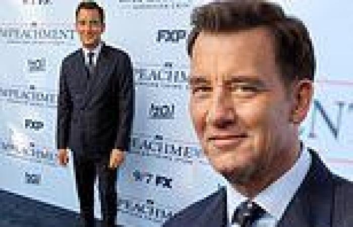 Clive Owen walks red carpet atImpeachment: American Crime Story premiere in LA