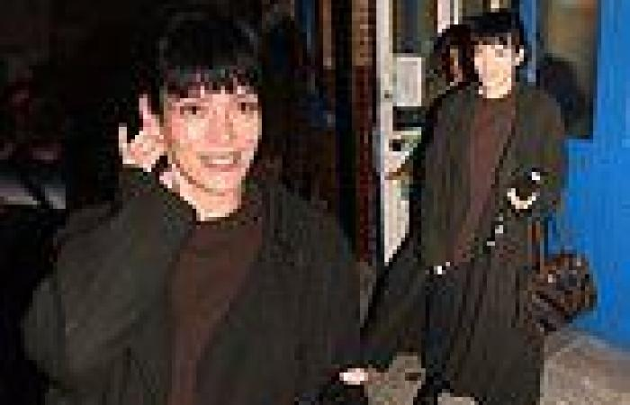 Lily Allen dons long black trench coat and chunky boots after2:22 A Ghost ...