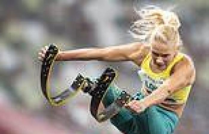 Gold medallist long jumper makes history by breaking the world record THREE ...