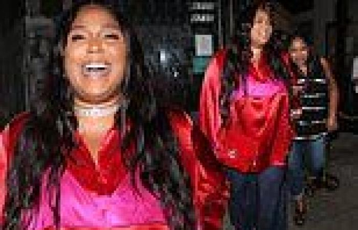 Lizzo turns heads in a vibrant silk red shirt while out for dinner in Los ...