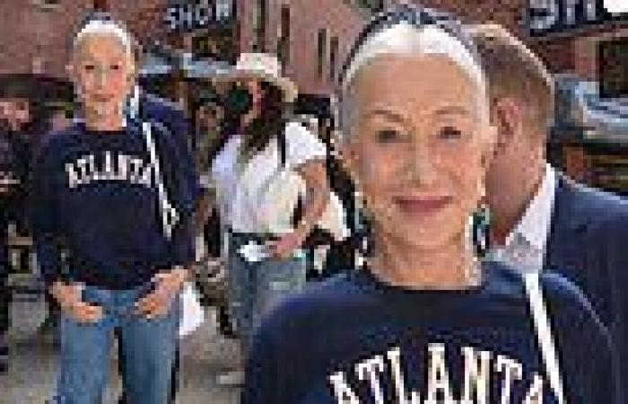 Dame Helen Mirren, 76, is fresh faced and casual at the Telluride Film Festival