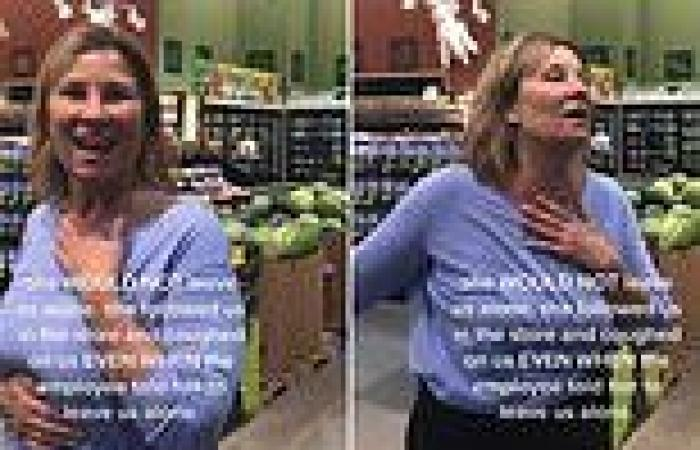 Woman walks through grocery store coughing on people and claims she doesn't ...