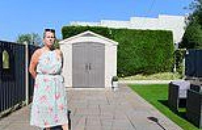 Homeowner's fury over 20ft high concrete wall 'monstrosity' towering over her ...