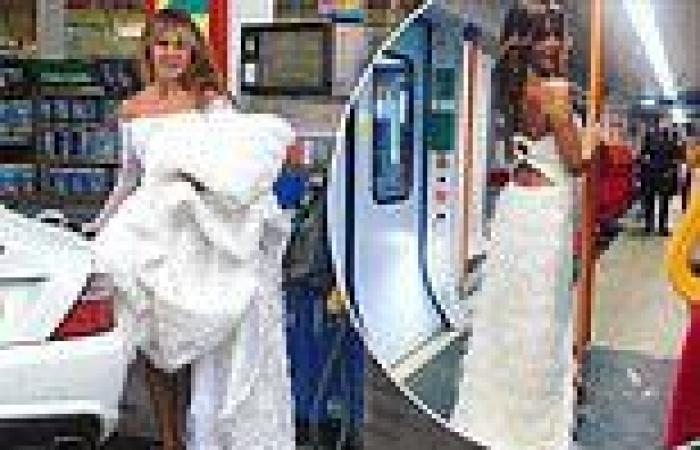 NTAs 2021: Lizzie Cundy has a humble arrival as she stops for petrol in her ...