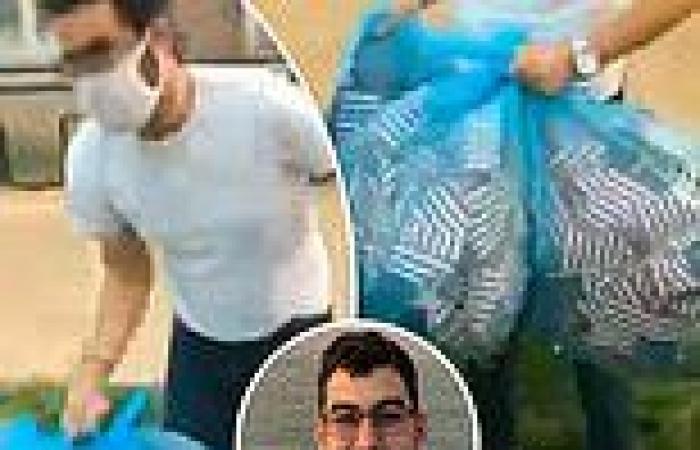 Washington University student senator filmed throwing away 2,977 American flags ...