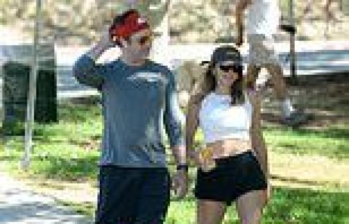 PICTURED: Jason Sudeikis reunites with Ted Lasso bombshell Keeley Hazell for ...