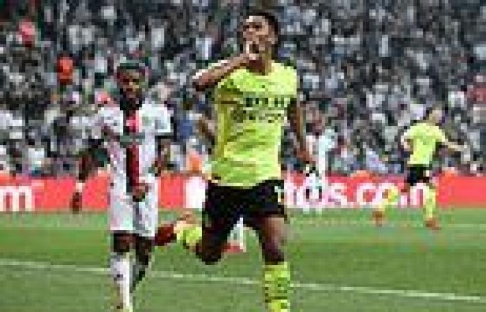 sport news England international Jude Bellingham scores a stunning volley for Borussia ...