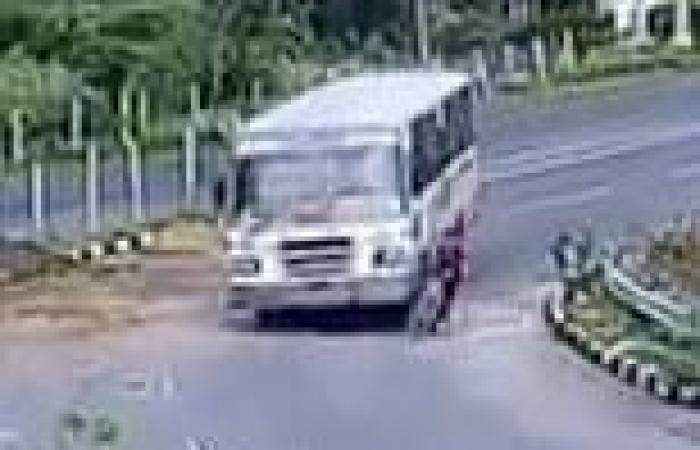 VIDEO: Indian man survives being run over by a bus